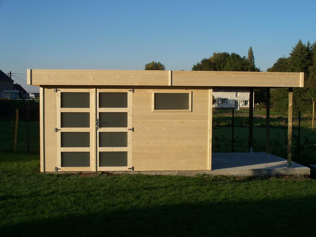 Sos chalets fabricant d 39 abris et de chalets de jardin en for Abris bois moderne